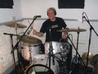 Tony Harris drumming with Ultimate Behemoth