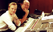 Tony Harris with Ronan Keating in Westland Studios Dublin, Ireland.